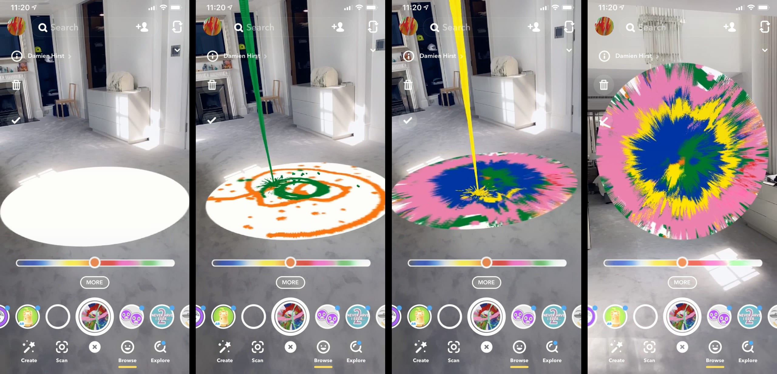 Дэмиен Херст совместно со Snapchat выпустили новый плагин для приложения