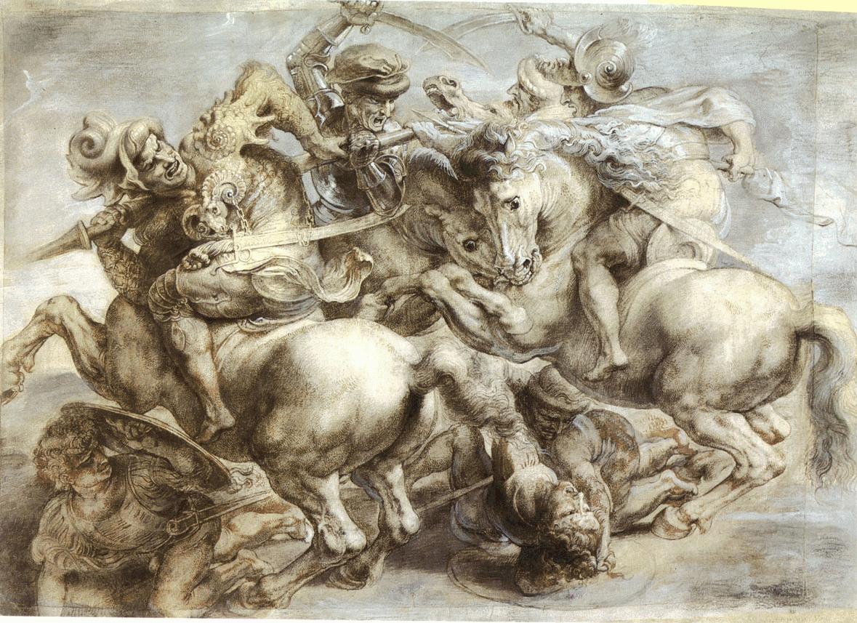 Фрески Леонардо даВинчи «Битва при Ангиари» несуществовало