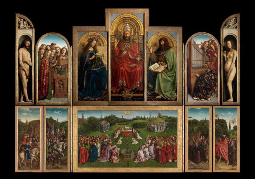 Гентский алтарь братьев Ван Эйков вернулся всобор Святого Бавона