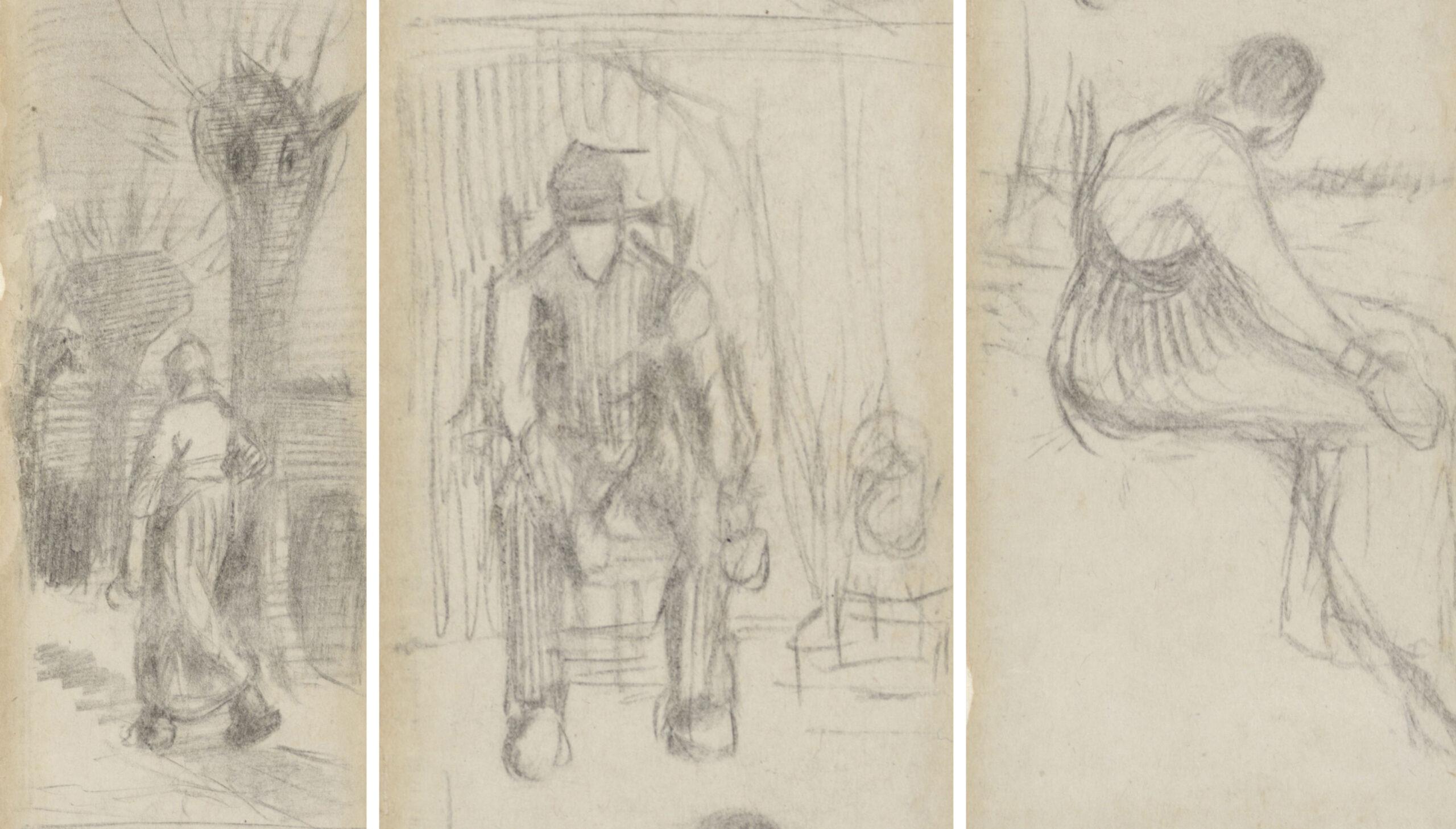 Внутри старинной книги обнаружили три эскиза работы Ван Гога