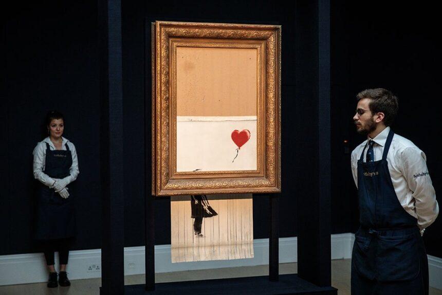 Частично самоуничтожившийся рисунок Бэнкси вновь выставят на торги